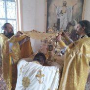 В праздник святых апостолов Петра и Павла епископ Алексий совершил Литургию в пос.Усть-Салда