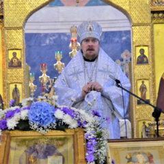 Епископ Алексий совершил Литургию в престольный праздник Собора во имя преподобного Максима Исповедника