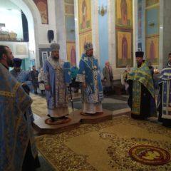 Епископ Алексий и епископ Гедеон совершили всенощное бдение в канун Успения Пресвятой Богородицы