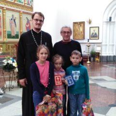 В Преображенском соборе завершен сбор школьных принадлежностей