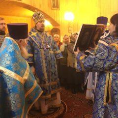 Епископ Алексий совершил Литургию в день Иверской иконы Божией Матери