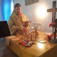 Епископ Алексий совершил Литургию в храме святителя Николая Чудотворца в пос. Павда