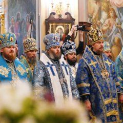 В праздник Покрова Пресвятой Богородицы епископ Алексий сослужил Святейшему Патриарху Кириллу за Литургией в Покровском ставропигиальном монастыре