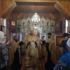 Епископ Алексий совершил всенощное бдение в храме во имя святителя Николая Чудотворца, пос. Сосьва