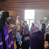 Епископ Алексий совершил Божественную литургию в храме в честь Благовещения Пресвятой Богородицы г.Ивдель