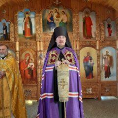 Епископ Алексий совершил Литургию в храме во имя свт. Иоасафа Белгородского, пос. Гари