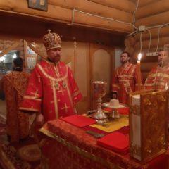 Епископ Алексий совершил Божественную литургию в храме во имя Святого Великомученика Георгия Победоносца в г. Дегтярске