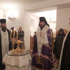 Епископ Алексий совершил вечернее богослужение накануне празднования Обре́зания Господня