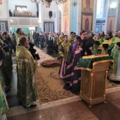 Епископ Алексий возглавил соборное богослужение духовенства Серовской епархии