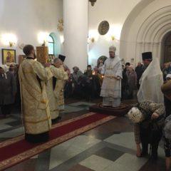 Епископ Алексий совершил Божественную литургию во Вселенскую родительскую субботу