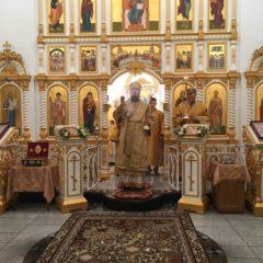 Епископ Алексий совершил Божественную литургию в Неделю мясопустную