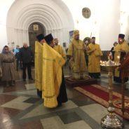 Епископ Алексий совершил всенощное бдение накануне празднования Иверской иконы Божией Матери