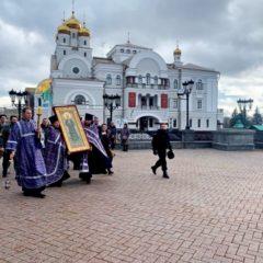 В Храм на Крови принесена чудотворная икона блаженной Матроны Московской