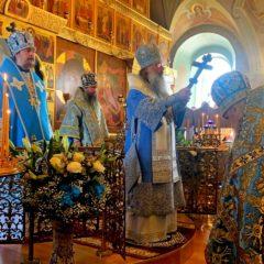Архиерейская Божественная литургия в праздник Благовещения Пресвятой Богородицы состоялась в храме Вознесения Господня