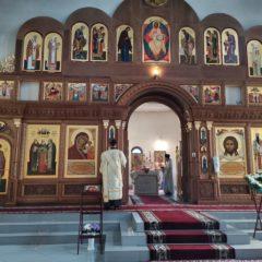 Епископ Алексий совершил Божественную литургию в праздник Вознесения Господня
