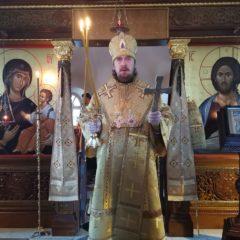 Епископ Алексий совершил Божественную литургию в Свято-Косьминской пустыни