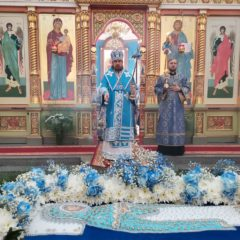 Епископ Алексий возглавил Литургию в праздник Успения Божией Матери