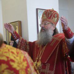 Митрополит Кирилл совершил Божественную литургию в храме во имя Святой Троицы города Красноуфимска