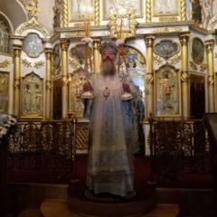 Митрополит Кирилл совершил Божественную литургию в Иоанно-Предтеченском кафедральном соборе