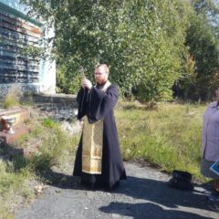 Молебен в селе Кошай