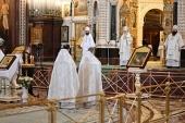 Патриаршая проповедь в Крещенский сочельник после Литургии в Храме Христа Спасителя в Москве