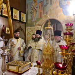 Епископ Алексий совершил Литургию в праздник Обрезания Господня