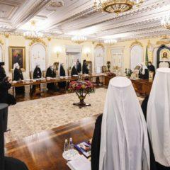 Святейший Патриарх Московский и всея Руси Кирилл возглавил первое в 2021 году заседание Священного Синода Русской Православной Церкви