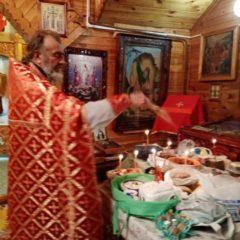 Всенощное бдение и Пасхальная Божественная литургия в п. Гари