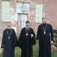 Епископ Феодосий посетил восстанавливающийся храм в честь святителя Николая Чудотворца